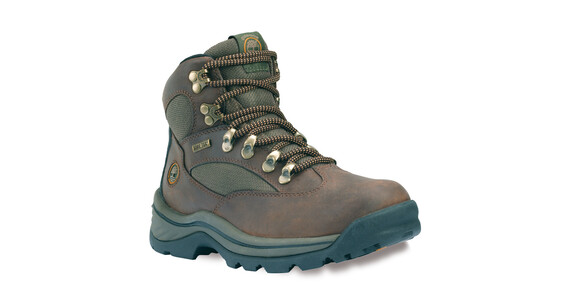 Timberland Chocorua Trail Boots Women Mid GTX Dark Brown with Green